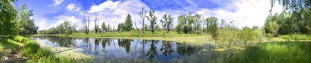 siberia: panoramic kind on a lake in Siberia Stock Photo