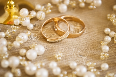 amorousness: wedding rings Stock Photo