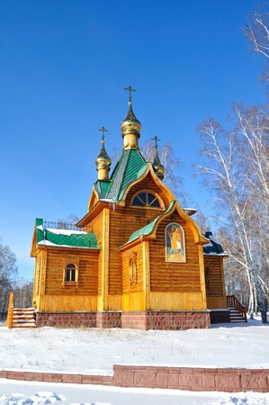 gilding: a church is in an omskoy area. monastery of Achairskiy. Siberia