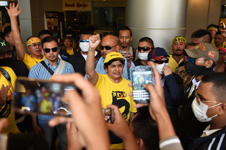 electoral system: Kuala Lumpur, Malaysia - November 19, 2016 - Former co-chairperson of Bersih, Dato Ambiga Sreenevasan speaks to the crowd during the Bersih 5 rally to call for a new and cleaner electoral system in Malaysia.