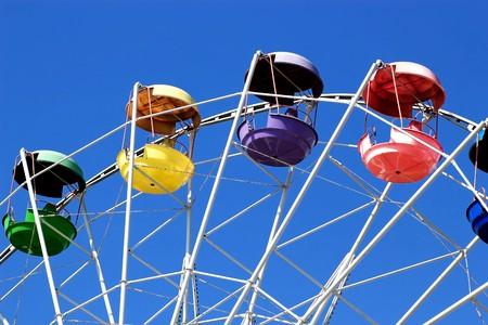 no cloud: Part of ferris wheel Stock Photo