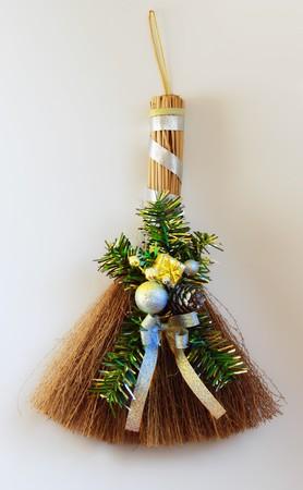 Christmas broom photo