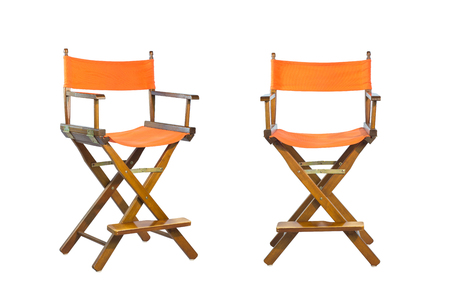 collapsible: Director chairs isolated white background