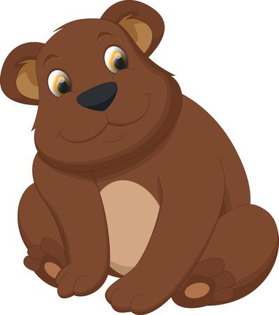 ourson: mignon dessin animé ours brun