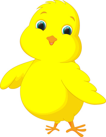 cute chicken cartoon Vectores