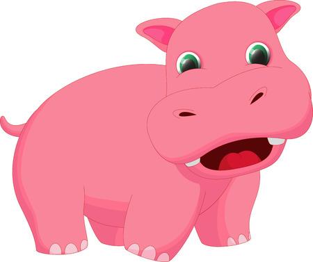 hipopotamo caricatura: historieta linda del hipop�tamo