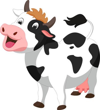 cartoon leuke koe