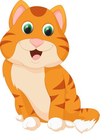 cute cat cartoon: cute cat cartoon