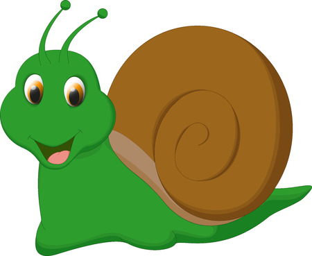 cochlea: cute snail cartoon
