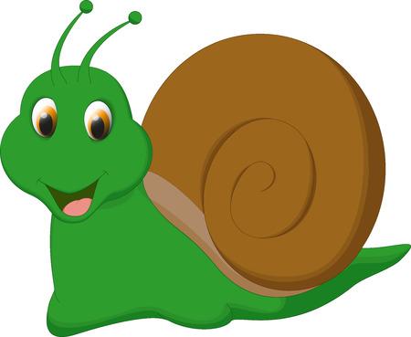 creeps: cute snail cartoon