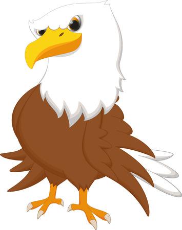 cute eagle cartoon posing Vector