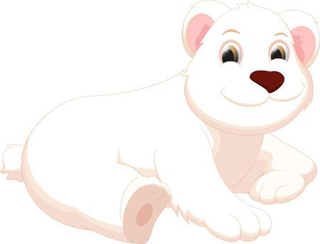 hairy legs: cute polar bear cartoon Illustration