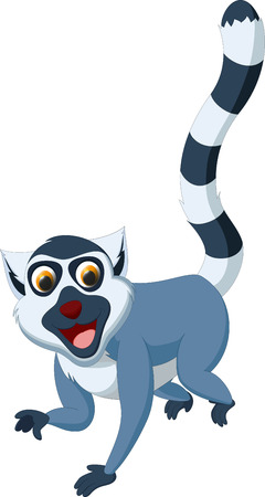 poser: happy lemur cartoon