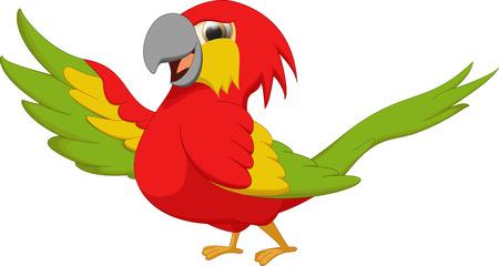 guacamaya caricatura: guacamaya lindo que agitaba la historieta del pájaro