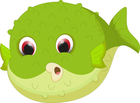 blowfish: cute pufferfish cartoon