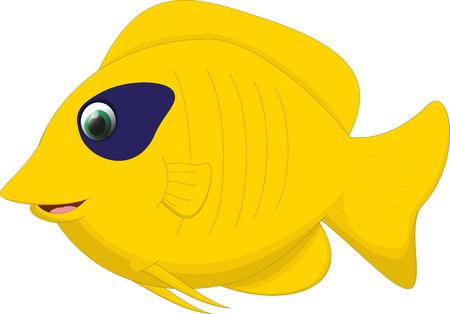 salt free: cute butterfly fish cartoon