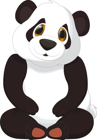 panda: cute panda cartoon