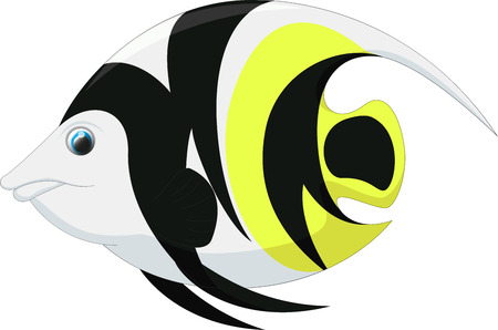 cute angel fish cartoon