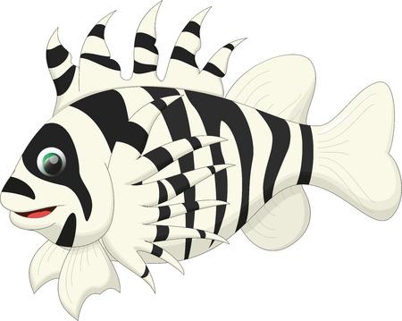 scorpion fish: cute lion fish cartoon