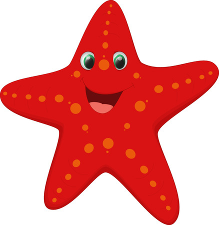 cute starfish cartoon
