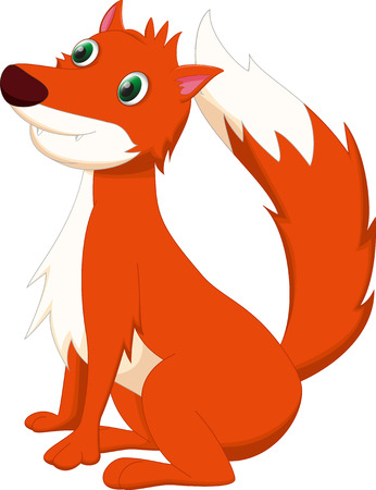 fox animal: cute fox cartoon Illustration