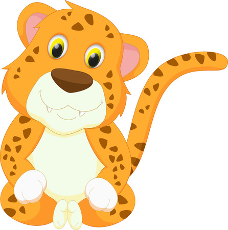 panthera: cute leopard cartoon