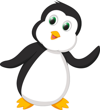 penguin cartoon: cute penguin cartoon