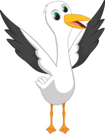 nape: happy seagull cartoon