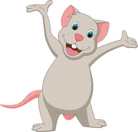 walking baby: happy mouse cartoon