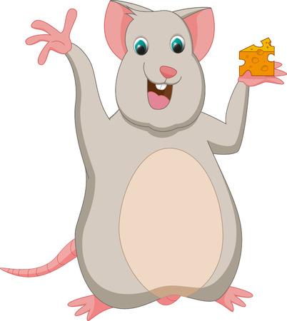 cheese cartoon: cute mouse cartoon with cheese