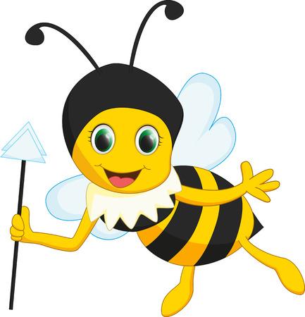 abeja reina: reina linda abeja de la historieta