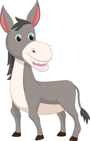 cartoon donkey: cute donkey cartoon Illustration