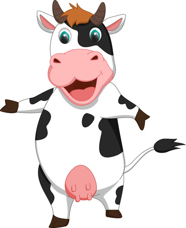 cow vector: cute cow cartoon