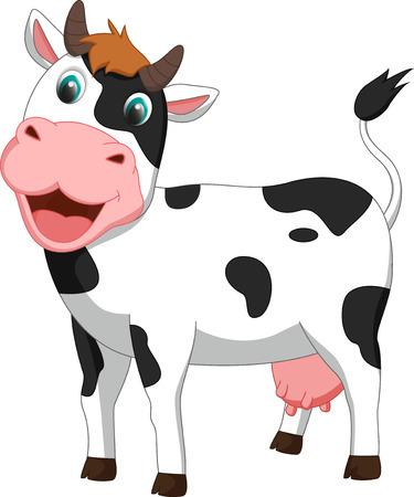 udder: cute cow cartoon