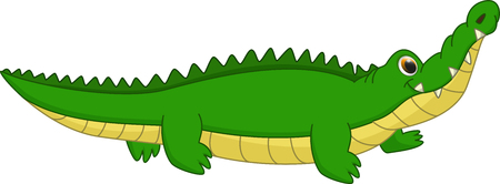 cute crocodile cartoon 向量圖像