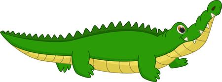 krokodil cartoon schattige