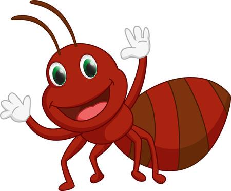 hormiga caricatura: de dibujos animados feliz hormigas