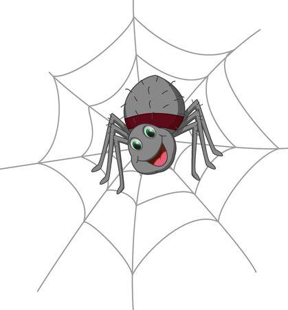 stupid body: cute spider cartoon