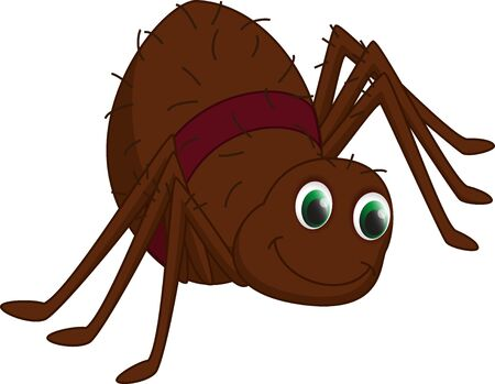 stupid body: cute spider cartoon