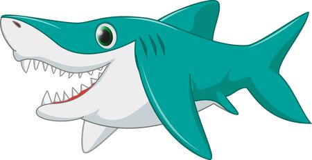 underwater ocean: cute shark cartoon