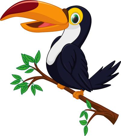leuke toekan vogel cartoon