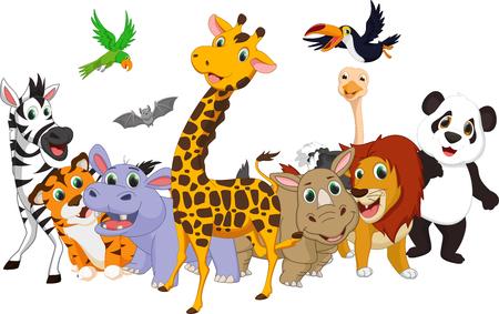 漫画の野生動物