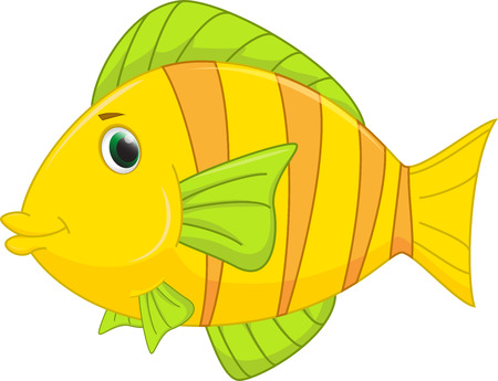 tropical fish: cute fish cartoon