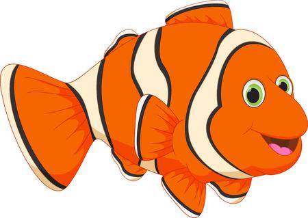 suave: Cute clown fish cartoon