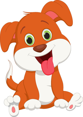cute dog cartoon Ilustracja