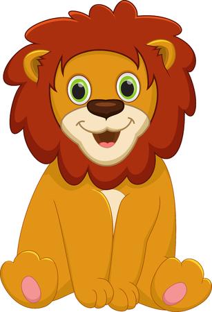 Bébé mignon lion cartoon Vecteurs