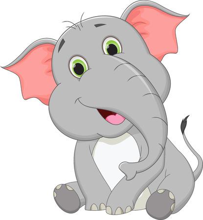 cute cartoon: cute baby elephant cartoon
