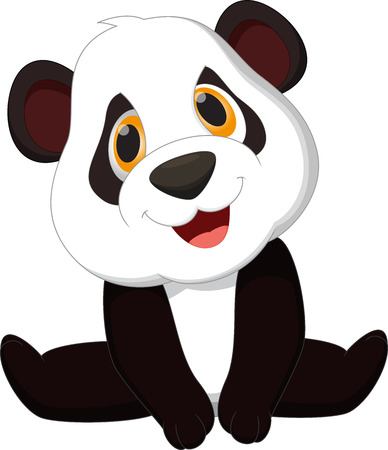 panda: Baby panda cartoon