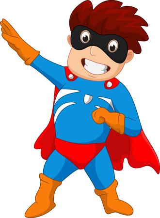 streaking: Super hero boy cartoon