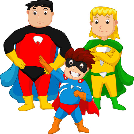 girl  child: Super hero family